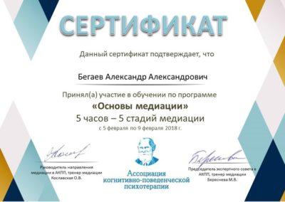 Сертификат Медиация